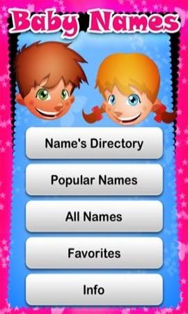 Kids Name Directory App Development